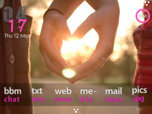<b>HeartBeat pink themes for blackberry 9780,9700,96</b>