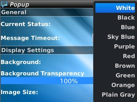 PopUp 1.0 for blackberry os7 apps