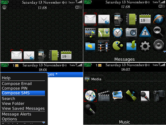 colorful themes for blackberry 8530