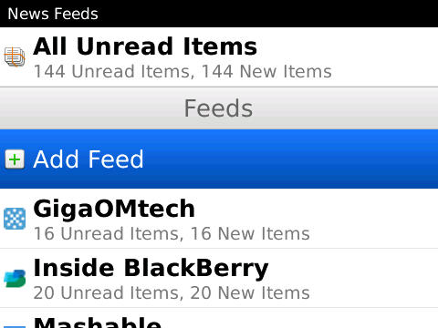 <b>BlackBerry News Feeds v1.0.0</b>