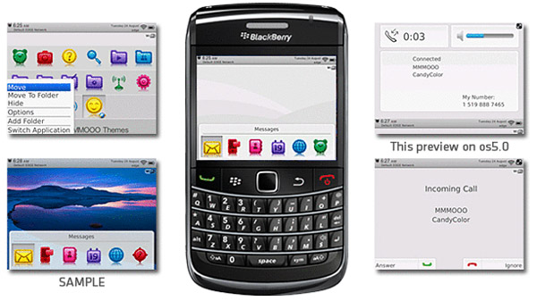 <b>Free blackberry Candy Color Themes</b>