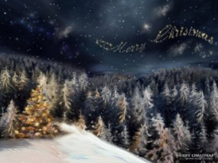 <b>Christmas Eve forest wallpapers</b>