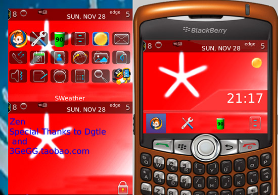 RED FLAKE for curve 83,88 themes