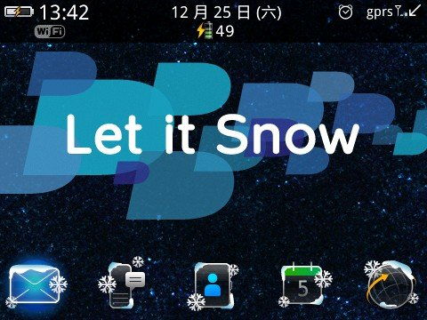 <b>Let it Snow for blackberry os5.0 themes</b>