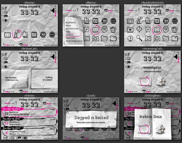 Paper for bold 9700 themes