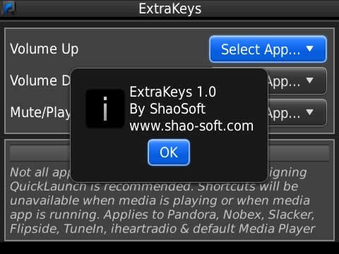 ExtraKeys 1.0.4 (free trial) for blackberry apps