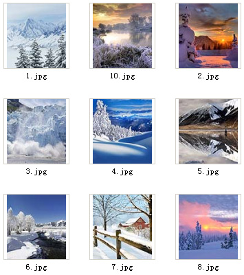 <b>Ice and Snow for 360x400 wallpapers pack</b>