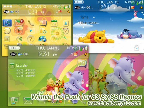 Winnie the Pooh for 83,87,88 themes