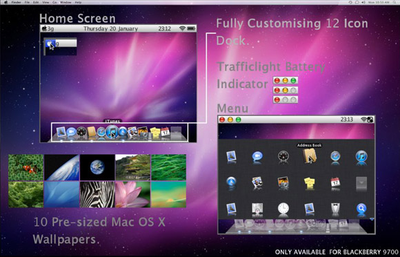 Mac OS X For Blackberry 9700 Themes