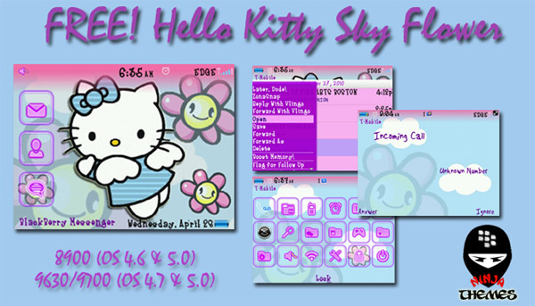 <b>free HelloKitty Sky Flower themes</b>