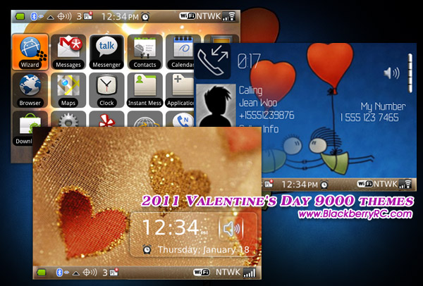 2011 Valentine's Day 9000 themes os5.0