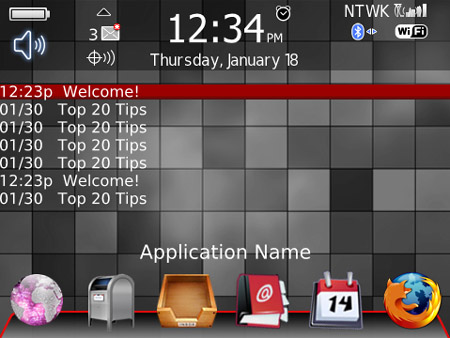 BlackberryBliss for 8900, 9700, 9630 Themes