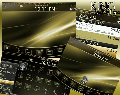 King for blackberry themes