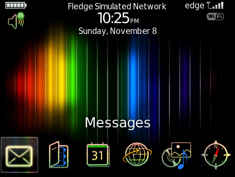 Colours for Blackberry Tour 9630 Themes