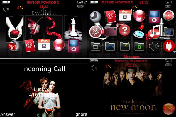 New Moon for 9000 bold themes