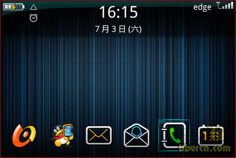 Evolution Noire themes for blackberry