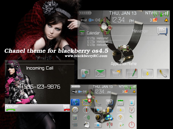 Chanel 8300 theme for blackberry