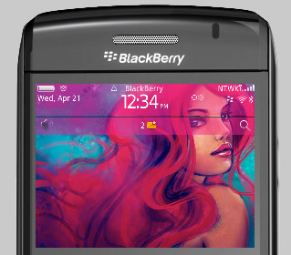 Pink Blackberry Bold 9780 themes