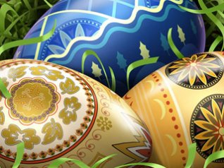 Easter eggs 9700 wallpapers