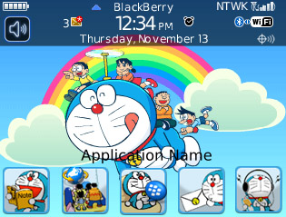 Doraemon for blackberry 85xx themes