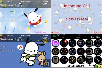 Pochacco for bb 9000 themes