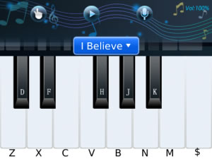 Handy Piano v1.0 for blackberry 9780 apps