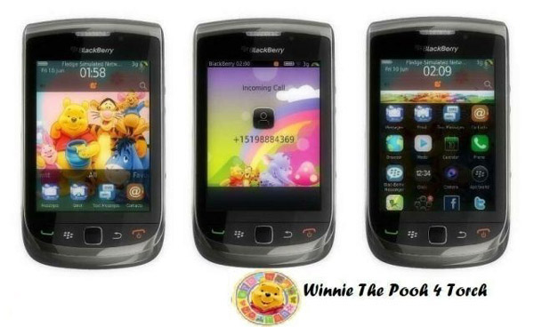 Winnie The Pooh 4 Torch theme for blackberry