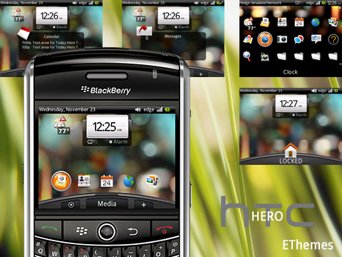 Free HTC Hero 8520 themes For BlackBerry
