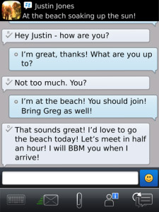 BlackBerry Messenger v6.0.0.125 for os6.0 apps