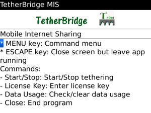 Tether Bridge v1.3.0 for BlackBerry Apps