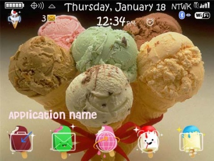 Ice Cream Yummy for blackberry 89xx themes