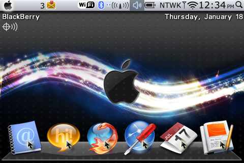 Mac OS X styled for blackberry bold 9000 themes