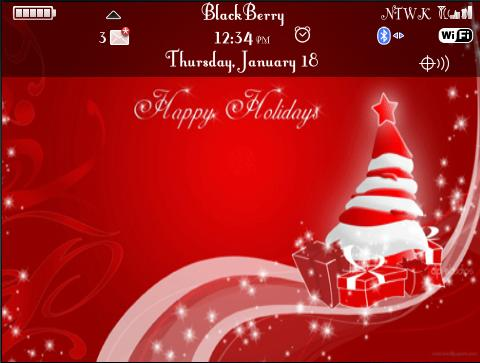 christmas red themes for blackberry 9700