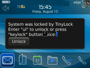 TinyLock v0.2.5 for BB OS4.6+ apps
