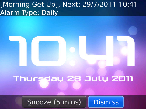 <b>Clock King V1.22 FOR BB os5.0+ apps</b>