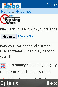 ibibo Parking Wars v1.0.0 games for blackberry