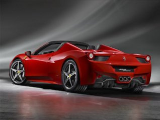 Ferrari 458 Spider 2012 blackberry wallpaper