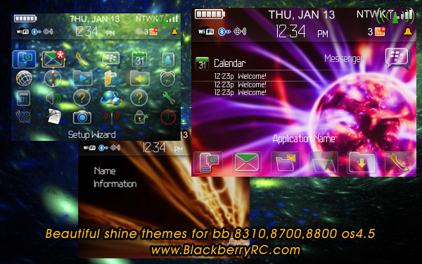 Beautiful shine themes for bb 8310,8700,8800 os4.