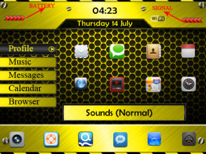 <b>Chrome Theme for blackberry curve os4.6+</b>