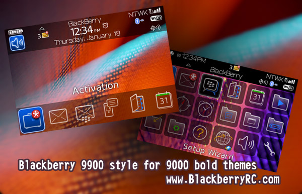 Blackberry 9900 style for 9000 bold themes os5.0