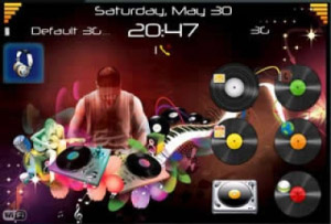 <b>DJ v1.0 theme for BlackBerry</b>