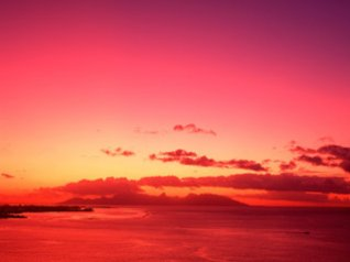 Tahiti Sunset blackberry 9780 wallpaper