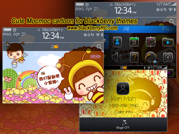 Cute Mocmoc cartoon theme for bold 9650,9700,9780