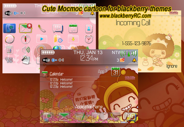 Cute Mocmoc cartoon theme for curve 8330 os4.5