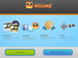 <b>MOLOME v2.0.5 for blackberry applications</b>