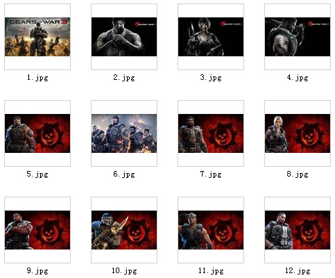 Gears of War 3 for 1024x600 playbook wallpaper pa
