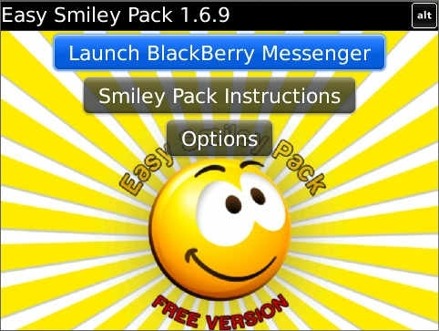 Easy Smiley Pack v2.1.3 for BlackBerry® Messenge