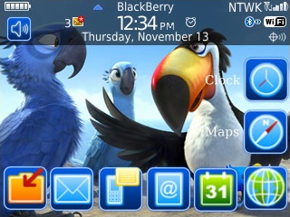 free Rio toon for blackberry 9300 themes os5.0