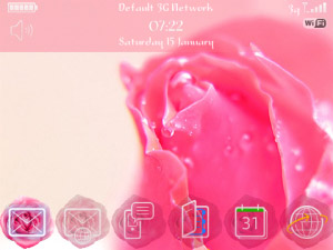 <b>Pink Rose themes for blackberry os4.7+</b>