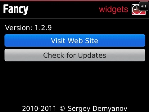 Fancy Widgets v1.2.9 for blackberry apps ( os5.0-